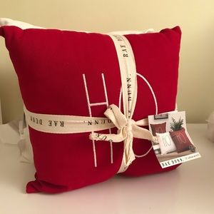 New Rae Dunn Christmas HO HO HO Set of 3 Pillows
